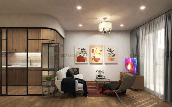 Nội thất chung cư hiện đại Halcom Phan Rang anh Tài chị Linh
