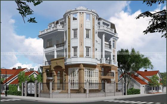 Thiết kế kiến trúc lâu đài Nhà Bè
