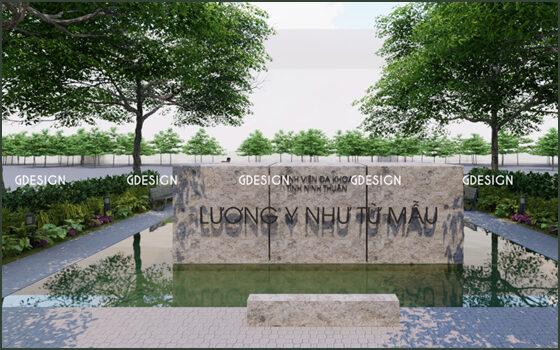Thiết kế thi công cảnh quan bệnh viện đa khoa tỉnh Ninh Thuận