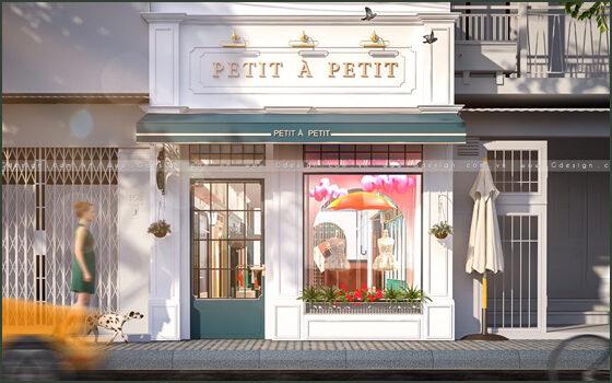 Thiết kế thi công trọn gói cửa hàng Petit à Petit