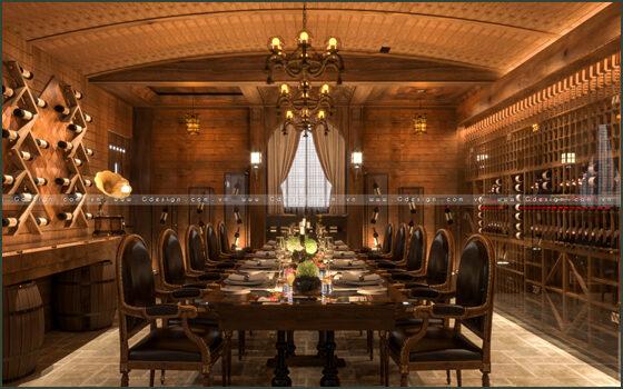 Thiết kế thi công nội thất nhà hàng rượu vàng Vine Quận 3