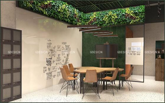 Thiết kế thi công nội thất văn phòng Coworking Space Mỹ