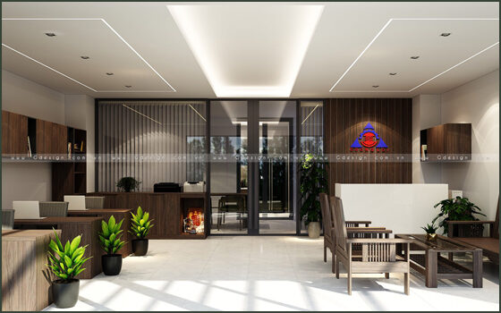 Thiết kế thi công nội thất văn phòng kết hợp nhà ở quận 12