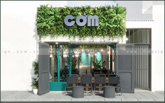 Thiết kế thi công trọn gói cafe Cớm Tân Phú