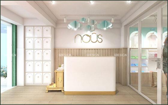 Thiết kế thi công trọn gói cửa hàng Nous
