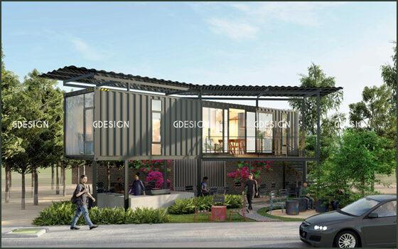 Thiết kế thi công trọn gói nhà container Phan Rí anh Trúc