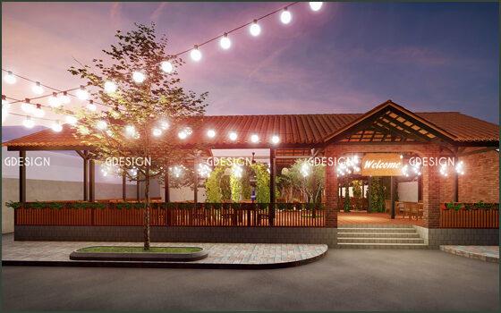 Thiết kế thi công trọn gói nhà hàng hải sản Tiền Giang