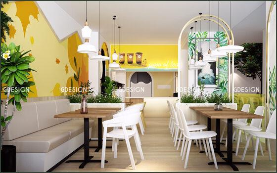 Thiết kế thi công trọn gói quán trà sữa Juno Phan Rang